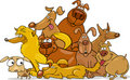 Cartoon dogs group Royalty Free Stock Photo