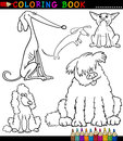 Cartoon Dogs or Puppies for Coloring Book Royalty Free Stock Photography