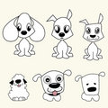 Cartoon dogs vector Stock Photos