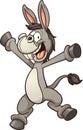 Cartoon donkey Royalty Free Stock Photo