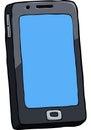 Cartoon doodle smartphone