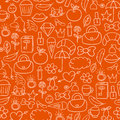 Cartoon doodles hand drawn style seamless pattern summer design wallpaper vector illustration.
