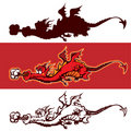 Cartoon dragon Stock Photo