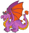 Cartoon dragon with big wings Royalty Free Stock Photo