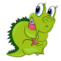 Cartoon dragon.  dinosaur baby Stock Photo
