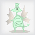 Cartoon dragon green childrens toy Royalty Free Stock Photos