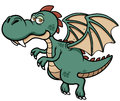 Cartoon dragon vector illustration of Stock Photo