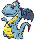 Cartoon dragon vector illustration of Stock Image
