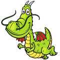 Cartoon dragon vector illustration of Royalty Free Stock Image