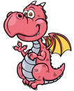 Cartoon dragon vector illustration of Royalty Free Stock Images