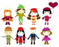 Cartoon drawings of children this is file eps format Stock Image