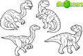 Cartoon drawings of dinosaurs.