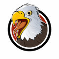 Cartoon eagle sign Stock Image