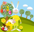 Cartoon Easter background Royalty Free Stock Photos