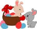 Cartoon Easter bunnies.