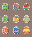 Cartoon Easter egg stickers Stock Image