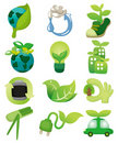 Cartoon eco icon Royalty Free Stock Images