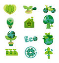 Cartoon eco icon Royalty Free Stock Photos