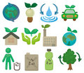 Cartoon eco set icon Royalty Free Stock Image