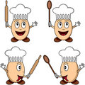 Cartoon Egg Chef Characters Royalty Free Stock Images