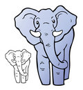 Cartoon Elephant Stock Photo