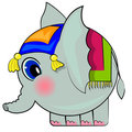 Cartoon elephant. funny indian elephant Royalty Free Stock Image