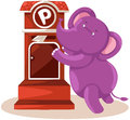 Cartoon elephant sending letter Royalty Free Stock Photo