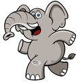 Cartoon elephant vector illustration of Royalty Free Stock Image