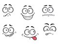 Cartoon emotions faces Royalty Free Stock Photo