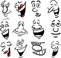 Cartoon emotions illustration Stock Photo