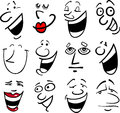 Cartoon emotions illustration Stock Photos