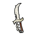 Cartoon evil looking knife Royalty Free Stock Photography