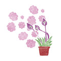 Cartoon excotic flowers exotic Stock Photo