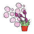 Cartoon excotic flowers exotic Stock Image