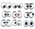 Cartoon expression eyes with different views illustration Stock Photos