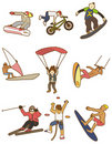 Cartoon Extreme sport icon Royalty Free Stock Images