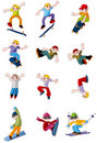 Cartoon Extreme sport icon Stock Images