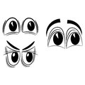 Cartoon eyes eps on a white background Royalty Free Stock Photos