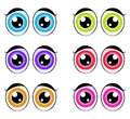 Cartoon eyes, expression vector silhouette symbol icon design. Royalty Free Stock Photo