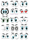 Cartoon eyes some expressing different moods Stock Photos