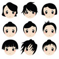 Cartoon Faces Stock Photo