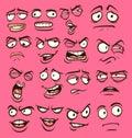 Cartoon faces Royalty Free Stock Photo
