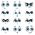 Cartoon faces with various expressions Stock Image