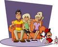 Cartoon family Royalty Free Stock Photo