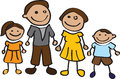 Cartoon family Royalty Free Stock Photography
