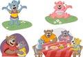 Cartoon family of bears Royalty Free Stock Photo