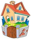 Cartoon family house Stock Photography