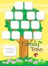 Cartoon family tree vector