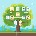 Cartoon Family Tree. Vector
