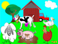Cartoon farm animals  Royalty Free Stock Photography